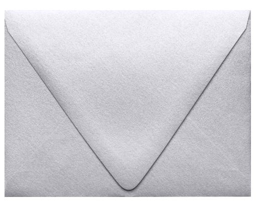 A2 Contour Flap Envelopes (4 3/8 x 5 3/4) Silver Metallic