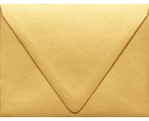 A2 Contour Flap Envelopes (4 3/8 x 5 3/4) Gold Metallic