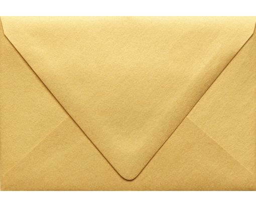 A4 Contour Flap Envelopes (4 1/4 x 6 1/4) Gold Metallic