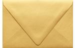 A4 Contour Flap Envelopes Gold Metallic
