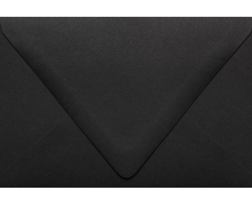 A4 Contour Flap Envelopes (4 1/4 x 6 1/4) Midnight Black