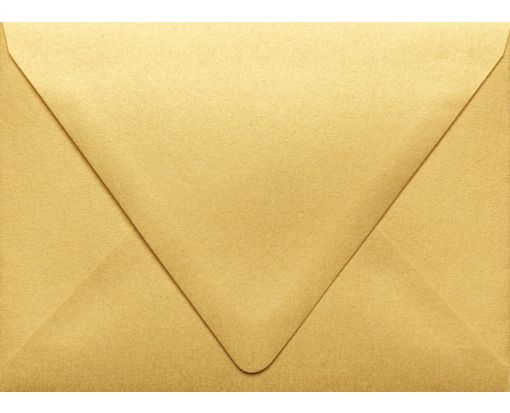A6 Contour Flap Envelopes (4 3/4 x 6 1/2) Gold Metallic