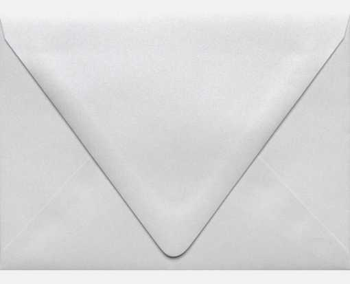 A6 Contour Flap Envelopes (4 3/4 x 6 1/2) Crystal Metallic