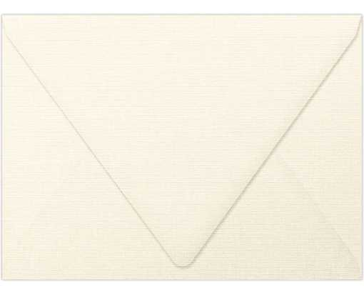 A6 Contour Flap Envelopes (4 3/4 x 6 1/2) Natural Linen