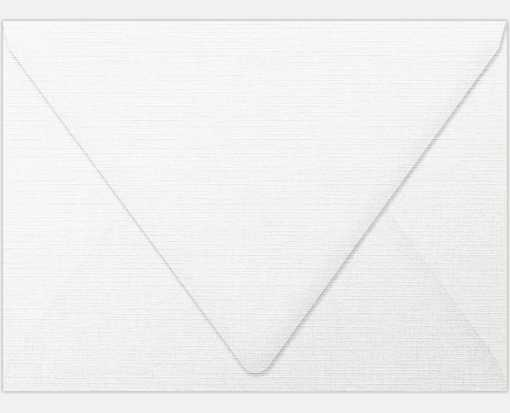 A6 Contour Flap Envelopes (4 3/4 x 6 1/2) White Linen