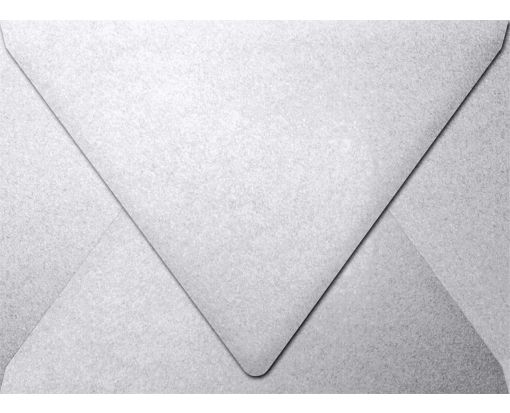 A7 Contour Flap Envelopes (5 1/4 x 7 1/4) Silver Metallic