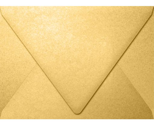 A7 Contour Flap Envelopes (5 1/4 x 7 1/4) Gold Metallic