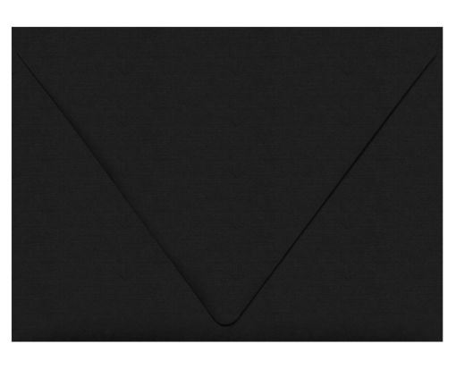 A7 Contour Flap Envelopes (5 1/4 x 7 1/4) Black Linen