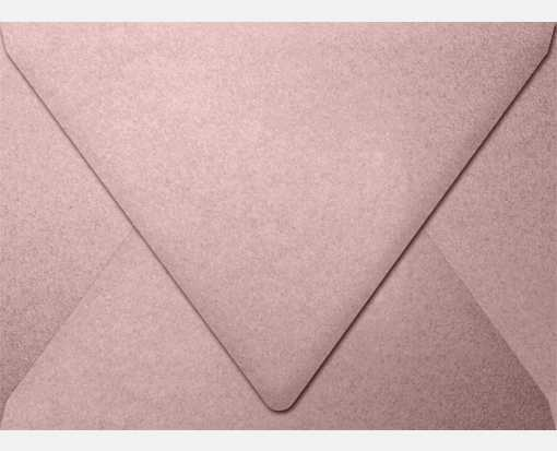 A7 Contour Flap Envelopes (5 1/4 x 7 1/4) Misty Rose Metallic - Sirio Pearl®