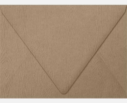 A7 Contour Flap Envelopes (5 1/4 x 7 1/4) Oak Woodgrain