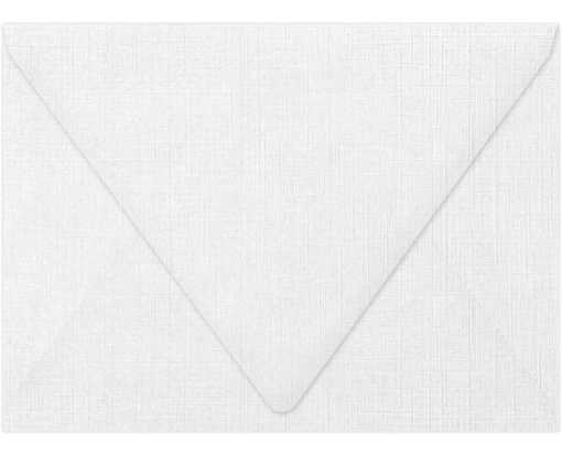 A7 Contour Flap Envelopes (5 1/4 x 7 1/4) White Linen