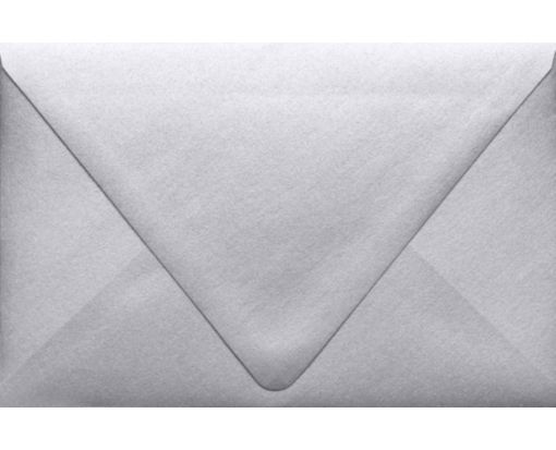 A9 Contour Flap Envelopes (5 3/4 x 8 3/4) Silver Metallic