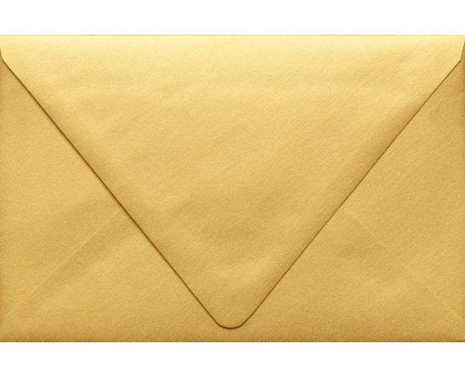 A9 Contour Flap Envelopes (5 3/4 x 8 3/4) Gold Metallic