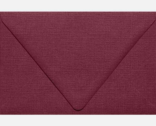 A9 Contour Flap Envelopes (5 3/4 x 8 3/4) Burgundy Linen