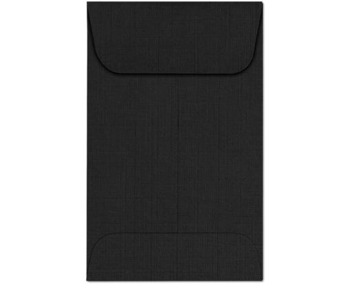 #1 Coin Envelopes (2 1/4 x 3 1/2) Black Linen