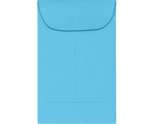 #1 Coin Envelopes (2-1/4 x 3-1/2) 65lb. Bright Blue Cardstock