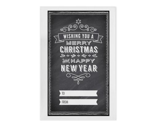 #1 Coin Envelopes (2 1/4 x 3 1/2) Holiday Chalkboard
