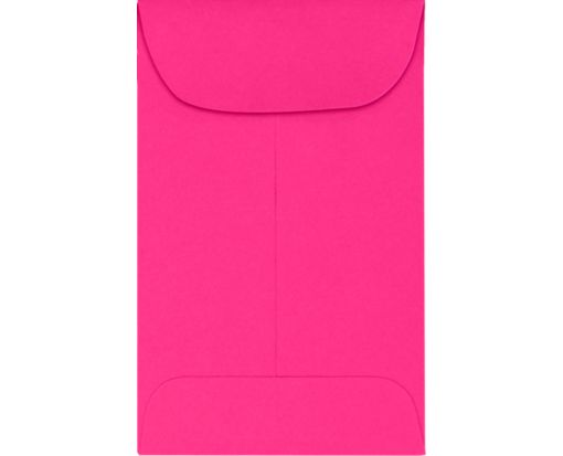 #1 Coin Envelopes (2-1/4 x 3-1/2) 65lb. Bright Fuchsia Cardstock