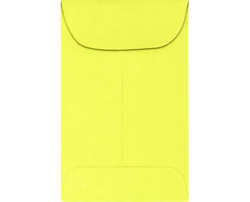 #1 Coin Envelopes (2-1/4 x 3-1/2) 65lb. Electric Yellow Cardstock