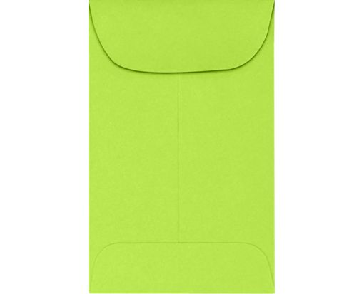 #1 Coin Envelopes (2-1/4 x 3-1/2) 65lb. Electric Green Cardstock