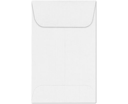 #1 Coin Envelopes (2 1/4 x 3 1/2) White Linen