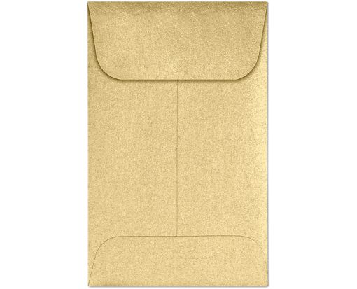 #1 Coin Envelopes (2 1/4 x 3 1/2) Blonde Metallic