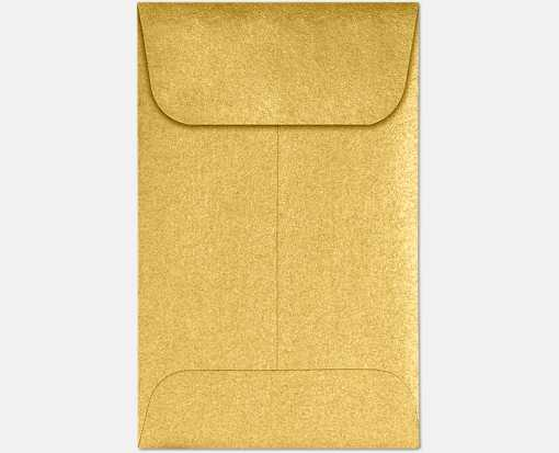 #1 Coin Envelopes (2 1/4 x 3 1/2) Gold Metallic