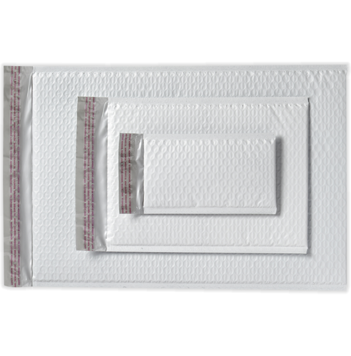 8 1/2 x 11 1/4 AirJacket Mailers White Bubble