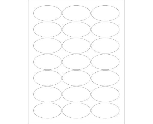 2.5 x 1.375 Oval Labels, 21 Per Sheet Clear Matte
