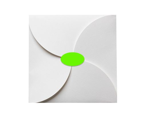 2.5 x 1.375 Oval Labels, 21 Per Sheet Fluorescent Green