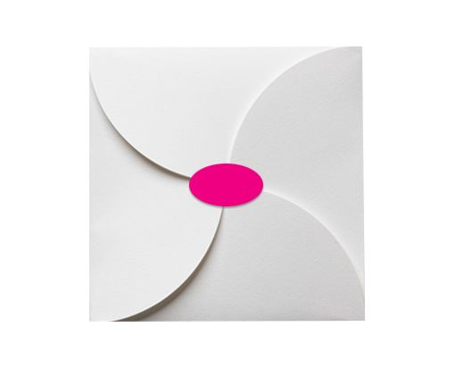 2.5 x 1.375 Oval Labels, 21 Per Sheet Fluorescent Pink