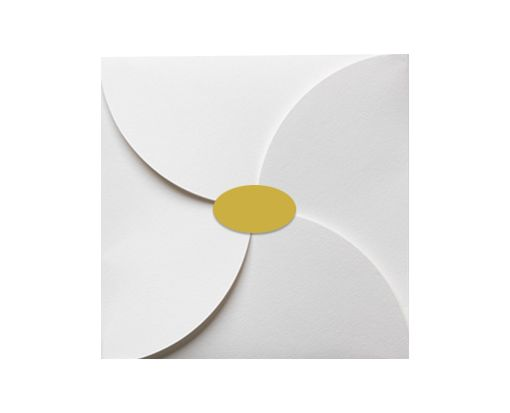 2.5 x 1.375 Oval Labels, 21 Per Sheet Gold Foil