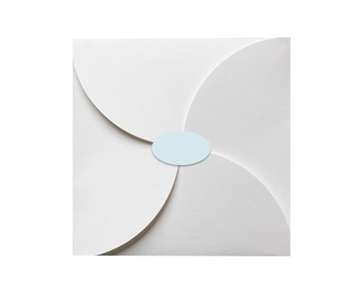 2.5 x 1.375 Oval Labels, 21 Per Sheet Pastel Blue