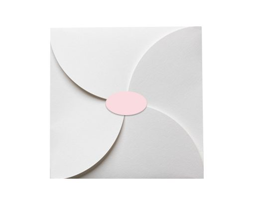 2.5 x 1.375 Oval Labels, 21 Per Sheet Pastel Pink