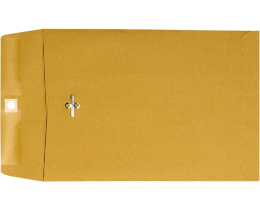 7 1/2 x 10 1/2 Clasp Envelopes 28lb. Brown Kraft