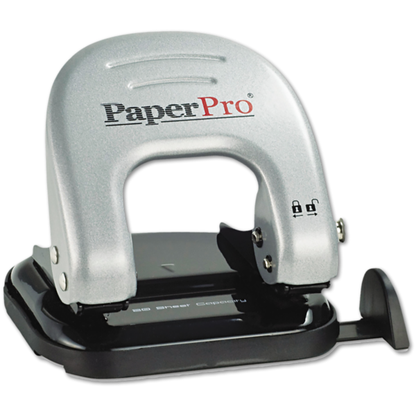 Indulge 2 Hole Puncher - 20 Sheet Capacity Silver