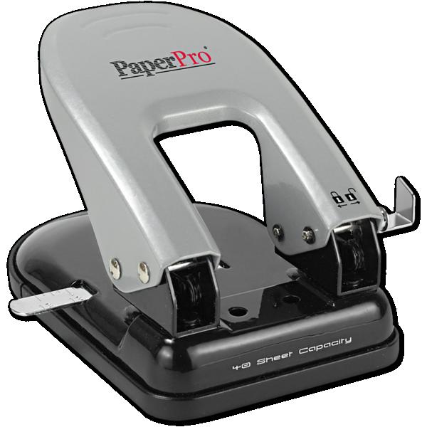 Indulge 2 Hole Puncher - 40 Sheet Capacity Silver