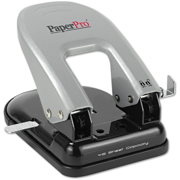 Indulge 2 Hole Puncher - 40 Sheet Capacity Silver