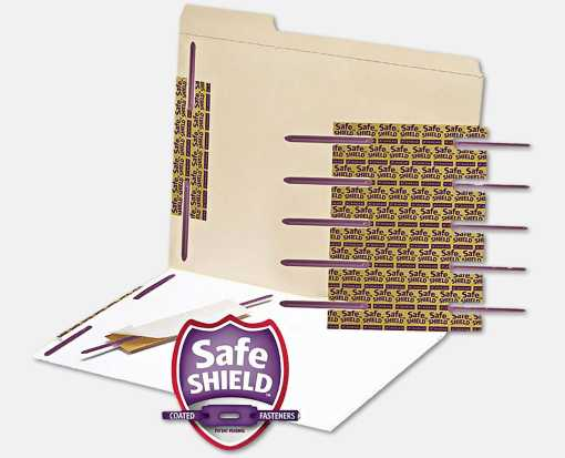 Self-Adhesive Paper Fasteners - 50 Pack Purple