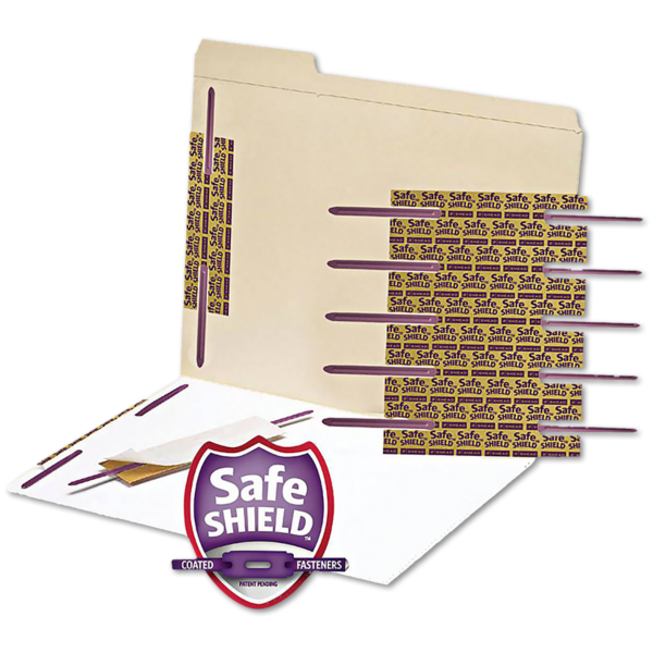 Self-Adhesive Paper Fasteners - 50 Pack Purple
