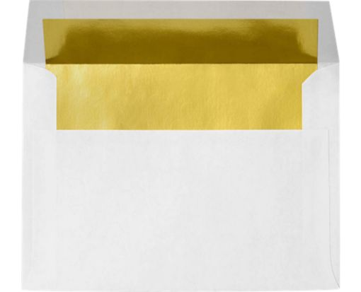 A8 Envelopes (5 1/2 x 8 1/8) Gold Foil Lining