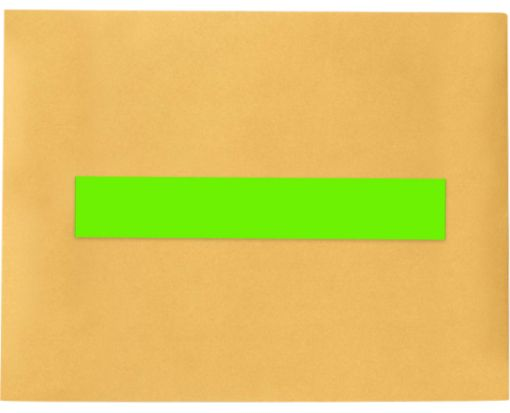 8.5 x 1.5 Long Rectangle Labels, 7 Per Sheet Fluorescent Green