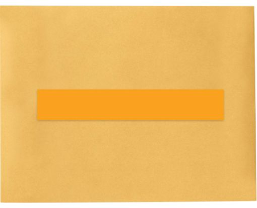 8.5 x 1.5 Long Rectangle Labels, 7 Per Sheet Fluorescent Orange