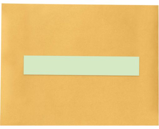 8.5 x 1.5 Long Rectangle Labels, 7 Per Sheet Pastel Green