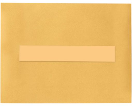 8.5 x 1.5 Long Rectangle Labels, 7 Per Sheet Pastel Orange