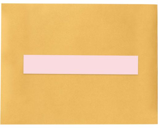 8.5 x 1.5 Long Rectangle Labels, 7 Per Sheet Pastel Pink