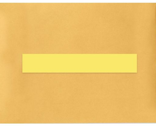 8.5 x 1.5 Long Rectangle Labels, 7 Per Sheet Pastel Yellow