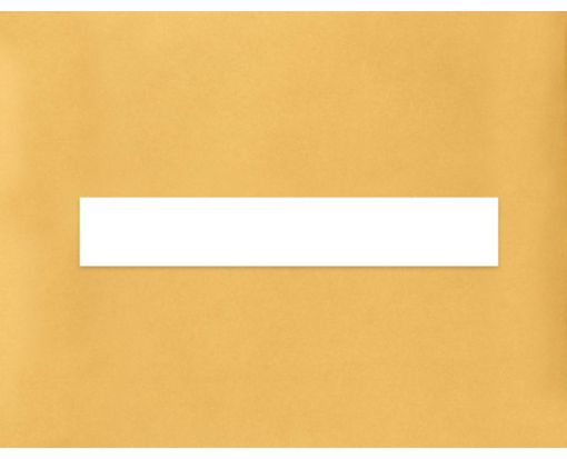 8.5 x 1.5 Long Rectangle Labels, 7 Per Sheet White