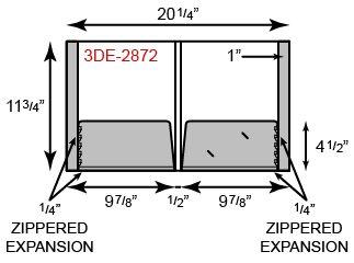 "2 Pocket with 1/4"" Expansion Pockets & 1"" Reinforced Edges"