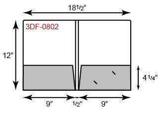 "9 1/2 x 12 Presentation Folders - 1/2"" Double Score Spine"